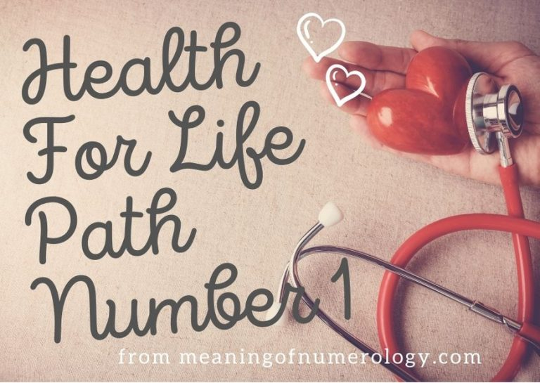 Health For Life Path Number 1