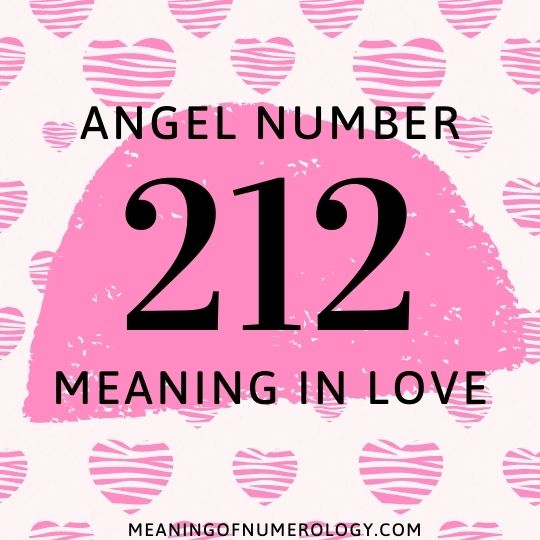 angel number 212 meaning in love
