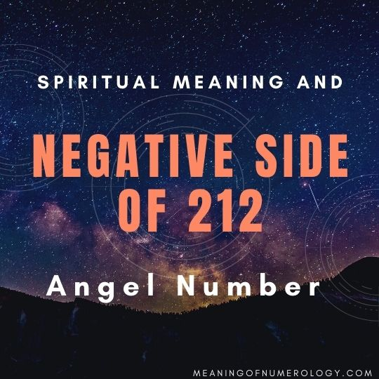 spiritual meaning and negative side of 212 angel number